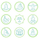 Vector yoga logo set Stock Photography
