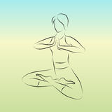 Vector yoga pose. Vector illustration of stylized yoga pose Royalty Free Stock Photos