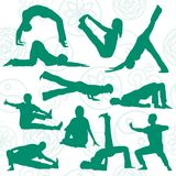 Vector yoga position Royalty Free Stock Photography
