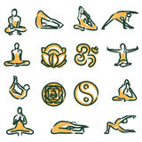 Vector yoga position Stock Image