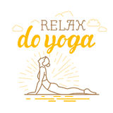 Vector yoga and sport motivation banner Stock Images