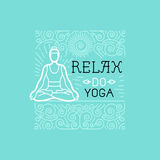 Vector yoga and sport motivation banner Royalty Free Stock Images