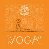 Vector yoga and sport motivation banner Stock Photography