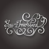 Vector You are Invited Inscription, Holiday Invitation, Wedding Royalty Free Stock Photo