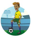 Young soccer player. Vector of young soccer player Royalty Free Stock Photos