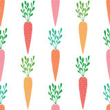 Vector yummy carrots seamless pattern background. Graphic design Stock Photography