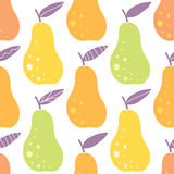 Vector yummy pears seamless pattern background Stock Photography