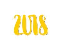 Vector Zahlen 2018, Schablonenillustration des neuen Jahres Lizenzfreie Stockfotografie