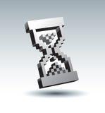 Vector zand-glas pijl vector illustratie
