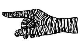 Vector - zebra hand gesture Stock Photos