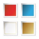 Vector zegelstickers Stock Fotografie