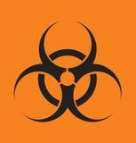 Vector Zeichen auf Strahlung auf einem abstrakten Hintergrund Lizenzfreies Stockbild