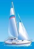 Vector Zeichnung der Yacht Lizenzfreie Stockbilder