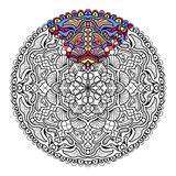 Vector zendala for coloring. Coloring book for adults Royalty Free Stock Photo