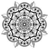 Vector Zentangle mandala background Royalty Free Stock Photo