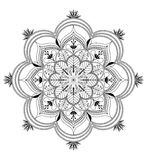 Vector Zentangle mandala background Stock Images