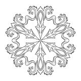 Vector zentangle snow flake, mandala for adult coloring pages. O Stock Photography