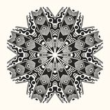 Vector zentangle template. Round ornament. Vector zentangle template. Creative circular ornament. Round symmetrical pattern. Decorative round mandala. Floral Stock Photo