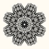 Vector zentangle template. Round ornament. Vector zentangle template. Creative circular ornament. Round symmetrical pattern. Decorative round mandala. Floral Royalty Free Stock Photos
