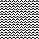 Vector Zigzag black and white Seamless Pattern. Curved Wavy Zig Zag Line. Vector Zigzag black and white seamless pattern. Horizontal curved wavy Zig Zag lines Vector Illustration