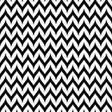 Vector Zigzag Chevron Seamless Pattern. Curved Wavy Zig Zag Line Royalty Free Stock Image