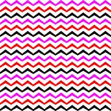Vector Zigzag multicolourd Seamless Pattern. Curved Wavy Zig Zag Line stock illustration