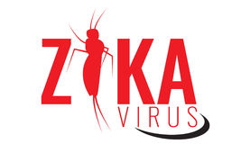 Vector Zika virus logo, symbol or sign. Aedes Aegypti mosquitoes. Stock Images