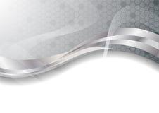 Vector zilveren abstracte achtergrond Stock Foto's