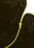 Vector zipper. Zipper for your text with design elements.Place your text where you need Royalty Free Stock Photos