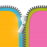 Vector Zipper Illustration Stock Image