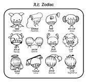 Vector zodiac child stock image
