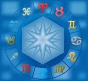 Vector zodiac circle Royalty Free Stock Photography