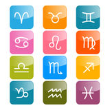 Vector Zodiac, Horoscope Icons Royalty Free Stock Photography
