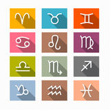 Vector Zodiac, Horoscope Symbols. Vector Zodiac, Horoscope Rectangle Symbols in Retro Colors Stock Photos