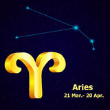 Vector  zodiac sign Aries. Stock Photography