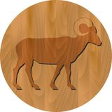 Vector zodiac sign - Goat Year Stock Photo