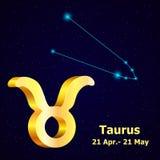 Vector  zodiac sign Taurus. Royalty Free Stock Image