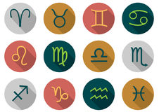 Vector zodiac signs Royalty Free Stock Images
