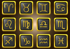 Vector zodiac signs Stock Photo