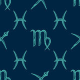 Vector zodiac signs seamless pattern Royalty Free Stock Photography