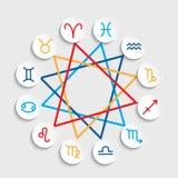 Vector Zodiac signs. Set of simple volumetric zodiac signs Royalty Free Stock Photos