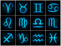 Vector Zodiac signs. With stars on Royalty Free Stock Photo
