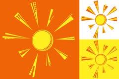 Vector Zon stock afbeeldingen