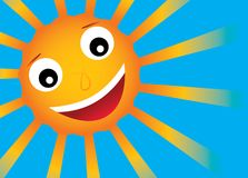 Vector zon met glimlach Royalty-vrije Stock Fotografie