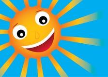 Vector zon met glimlach royalty-vrije illustratie