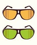 Vector zonnebril Stock Afbeeldingen