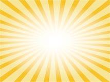 Vector zonnestraal Stock Afbeeldingen