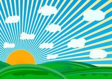 Vector zonnige dag Stock Afbeelding