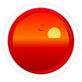 Vector zonsondergang Stock Afbeeldingen