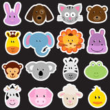 Vector Zoo Animal Sticker Collection Stock Image